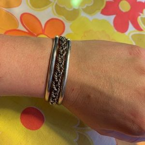Jewelry - Mexican Sterling Silver Rope Cuff